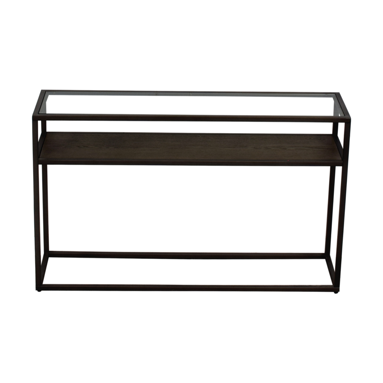 Crate & Barrel Switch Glass Wood And Metal Console Table With Regard To Switch Console Tables (View 6 of 30)