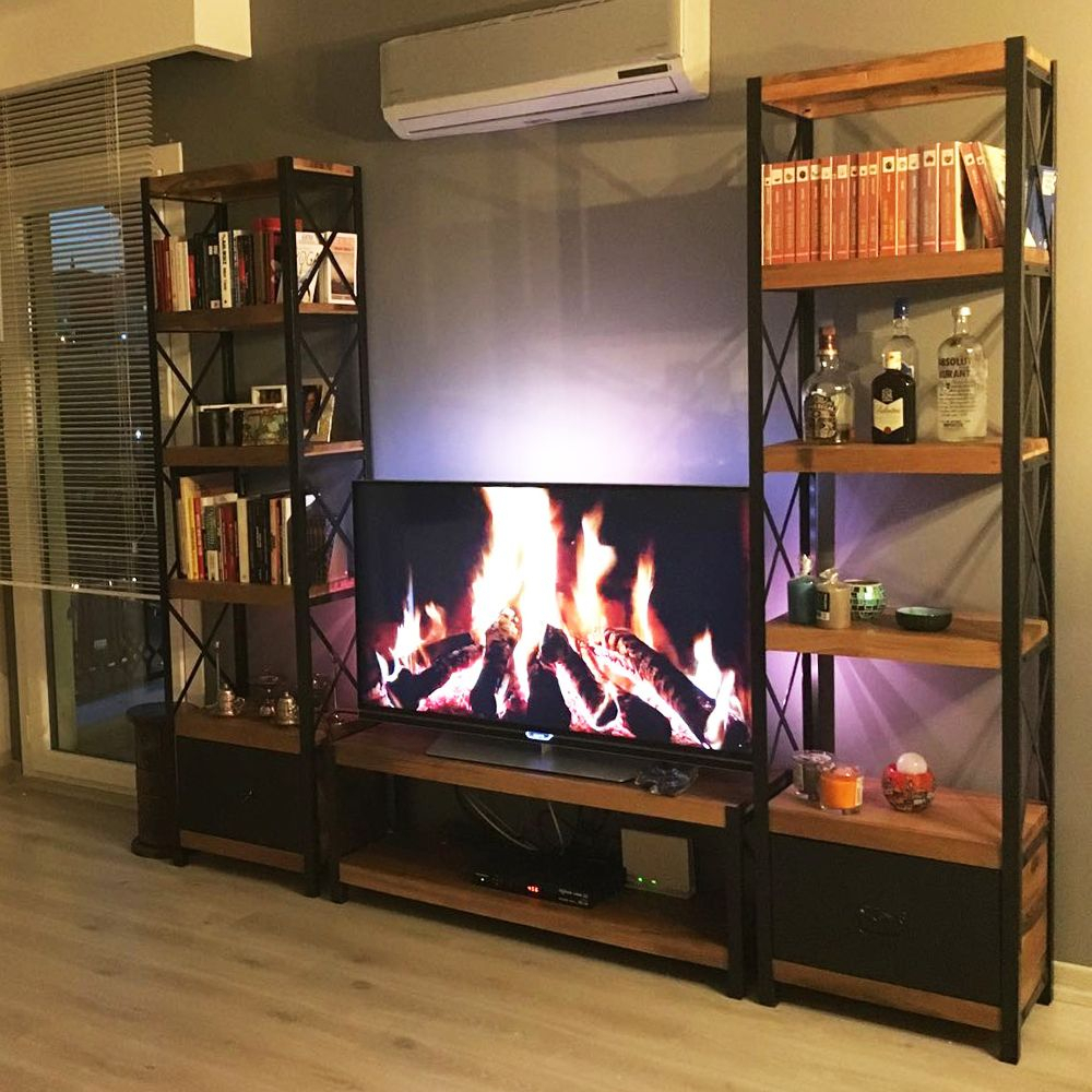 Cross Masif Ahşap Kitaplık Ve Tv Sehpası | Love It | Pinterest Inside Cato 60 Inch Tv Stands (View 22 of 30)