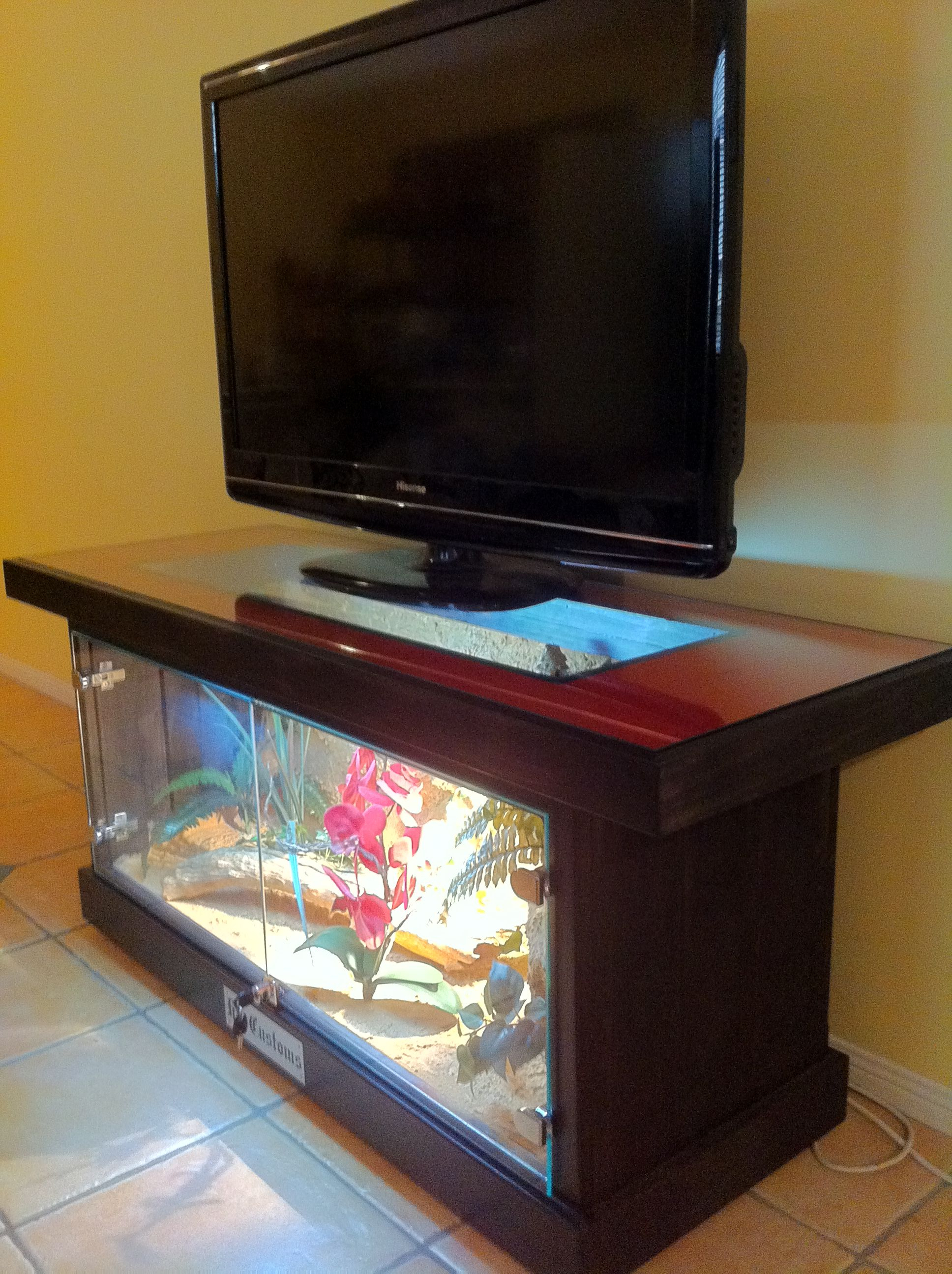 Custom Tv Stand | Terrarium Ideas | Bearded Dragon, Reptile with Marvin Rustic Natural 60 Inch Tv Stands (Image 10 of 30)