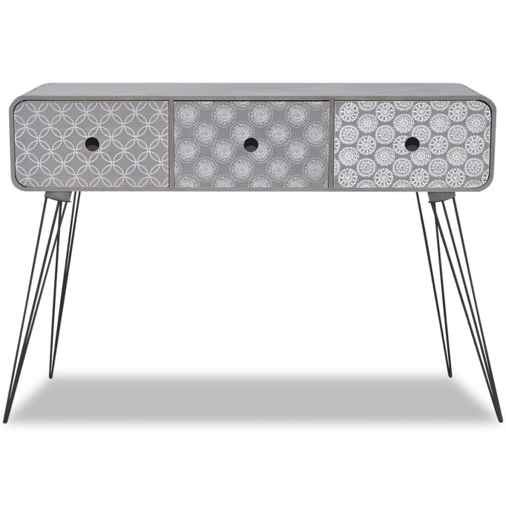 Dark Grey Console Table | Wayfair.co.uk regarding Mix Agate Metal Frame Console Tables (Image 10 of 30)