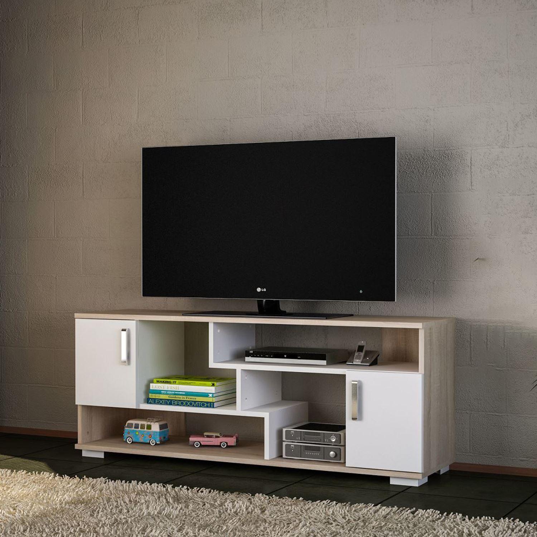 Dekorister Leroy Tv Ünitesi Beyaz/somon | Dekorazon With Regard To Ducar 74 Inch Tv Stands (View 17 of 30)