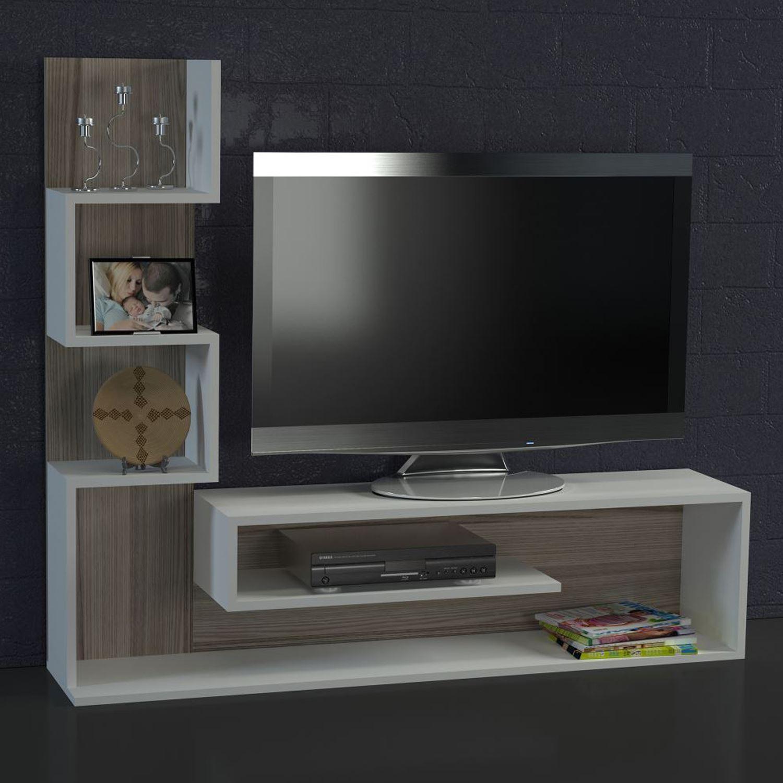 Dekorister Marina Tv Ünitesi Beyaz-Cordoba   Dekorazon with regard to Kai 63 Inch Tv Stands (Image 5 of 30)