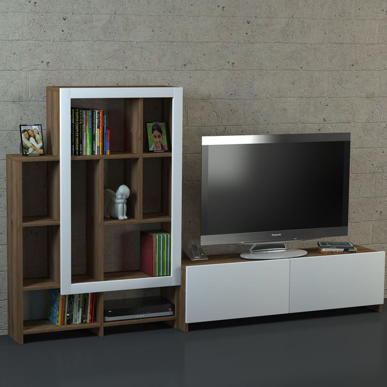 Dekorister Parea Tv Ünitesi Beyaz Ceviz | Dekorazon Inside Ducar 74 Inch Tv Stands (View 18 of 30)