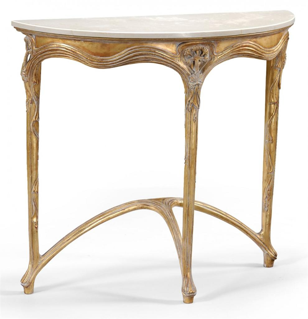 Demilune Table Console Ideas — Oz Visuals Design with Clairemont Demilune Console Tables (Image 8 of 30)