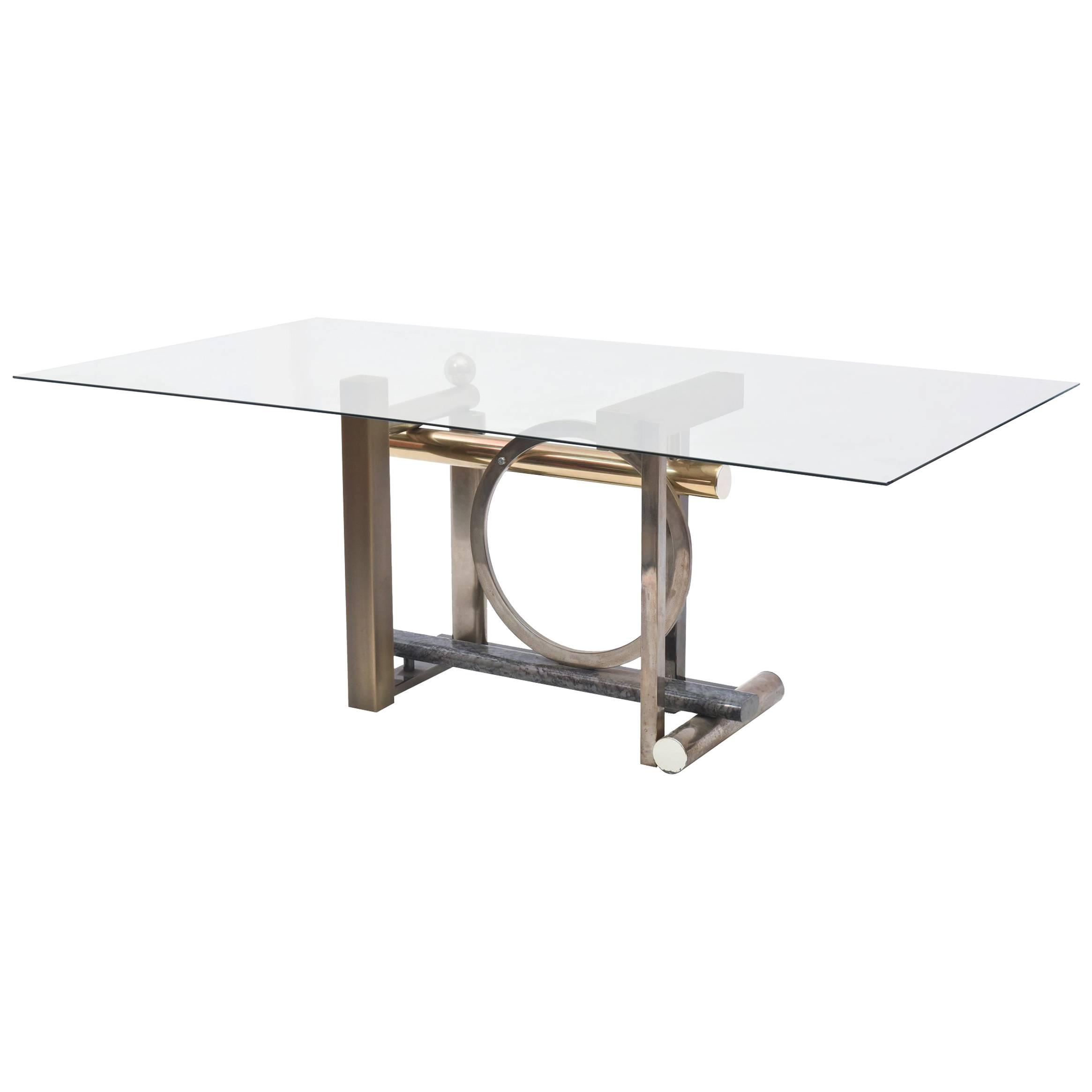 Design Institute America Furniture - 155 For Sale At 1Stdibs pertaining to Mix Leather Imprint Metal Frame Console Tables (Image 5 of 30)