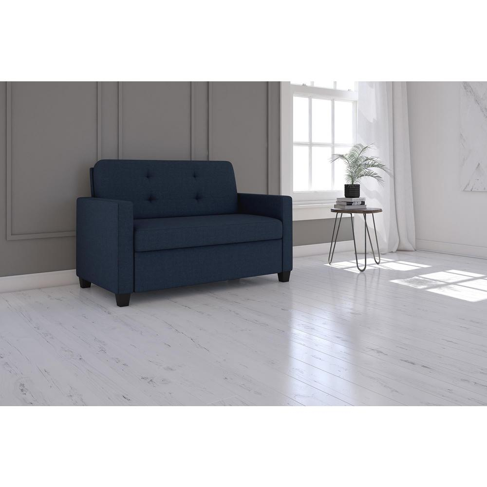 Dhp Casey Queen Size Grey Velvet Sleeper Sofa 2155457 – The Home Depot Intended For Casey Grey 74 Inch Tv Stands (View 6 of 30)