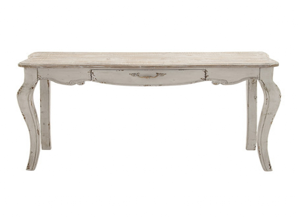 Distressed Console Table, Antique White Console Table White with regard to Antique White Distressed Console Tables (Image 6 of 30)