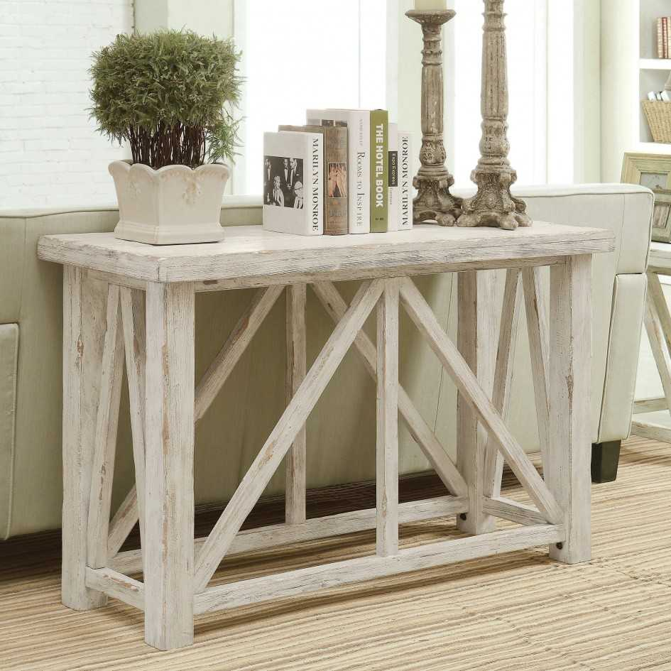 Distressed Console Table White : Console Table - Classic Yet Elegant for Antique White Distressed Console Tables (Image 5 of 30)