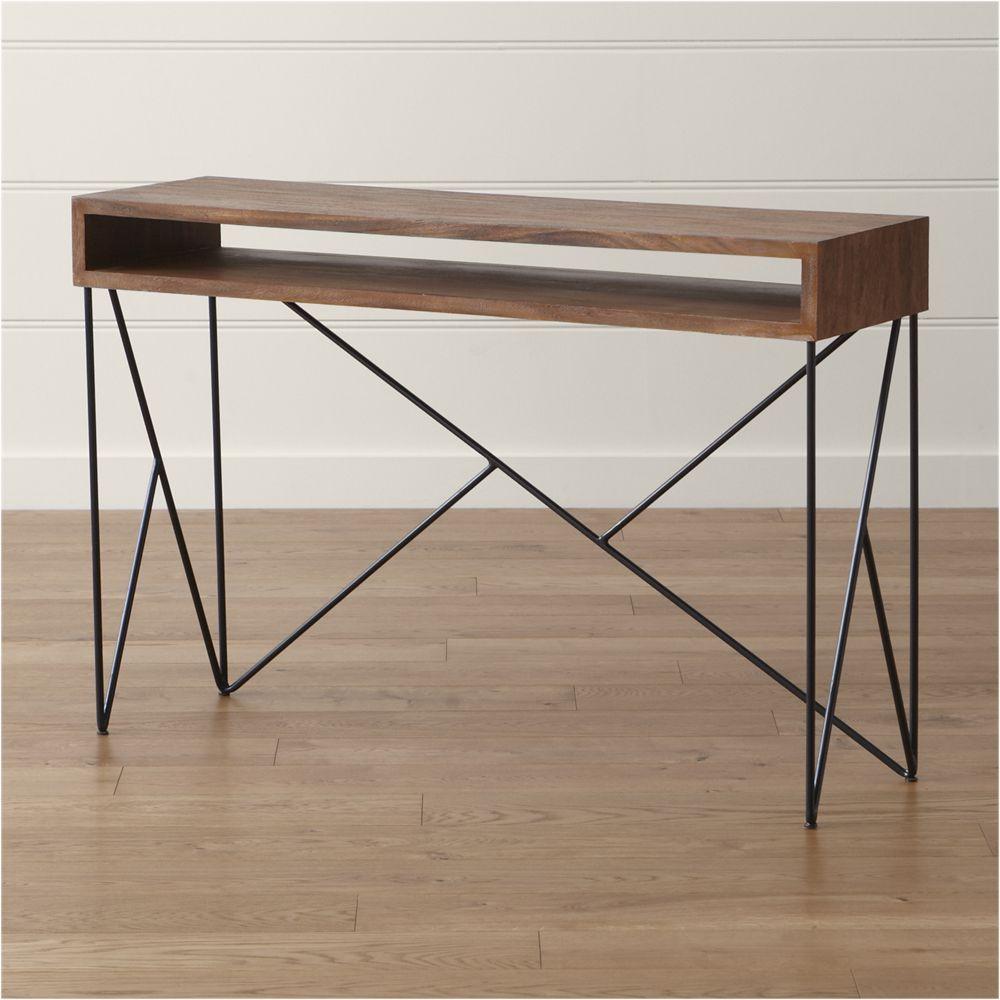 Dixon Console Table | Products | Pinterest | Console Tables Inside Parsons Concrete Top & Elm Base 48x16 Console Tables (View 2 of 30)