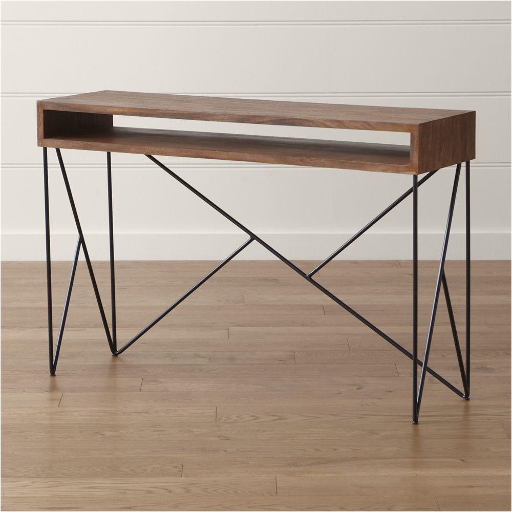 Dixon Console Table | Products | Pinterest | Console Tables within Parsons Concrete Top & Stainless Steel Base 48X16 Console Tables (Image 12 of 30)
