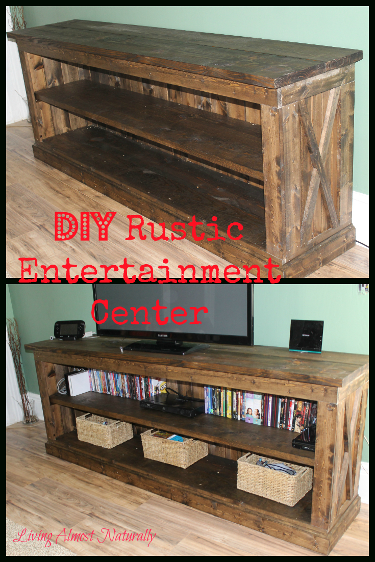 Diy Rustic Entertainment Center. Easy To Make Entertainment Center intended for Marvin Rustic Natural 60 Inch Tv Stands (Image 11 of 30)
