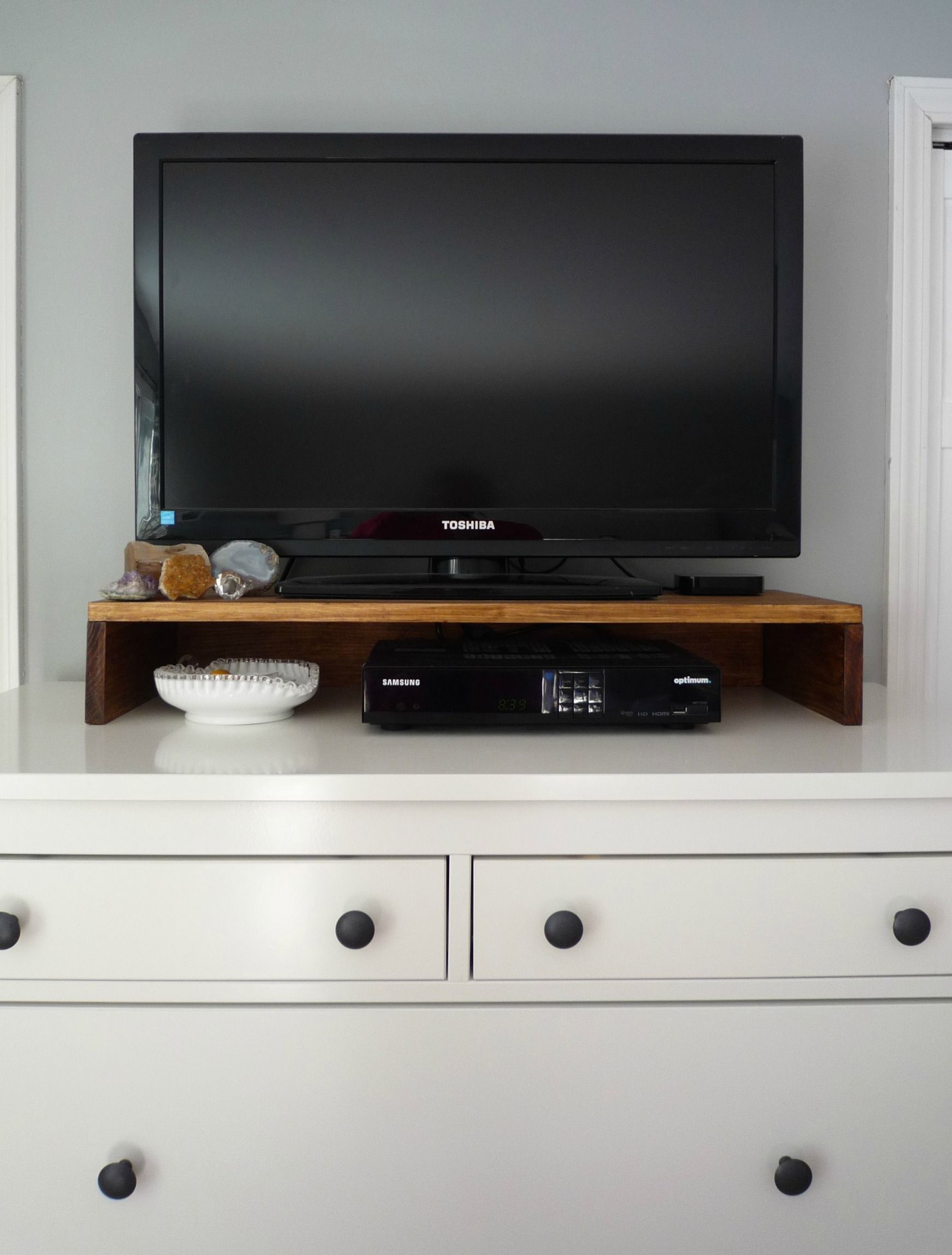 Diy Tabletop Tv Stand | For The Home | Diy Tv Stand, Dresser inside Casey Grey 54 Inch Tv Stands (Image 8 of 30)