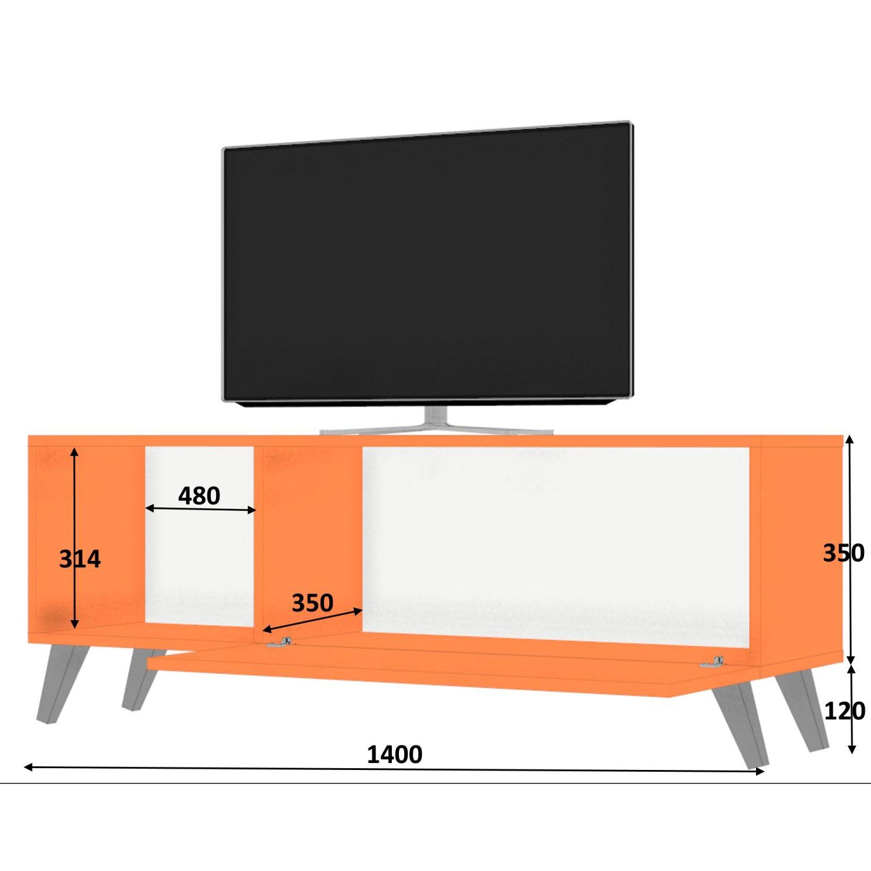Dmodül Smart Tv Ünitesi 140 Cm   Dekorazon with Kai 63 Inch Tv Stands (Image 6 of 30)
