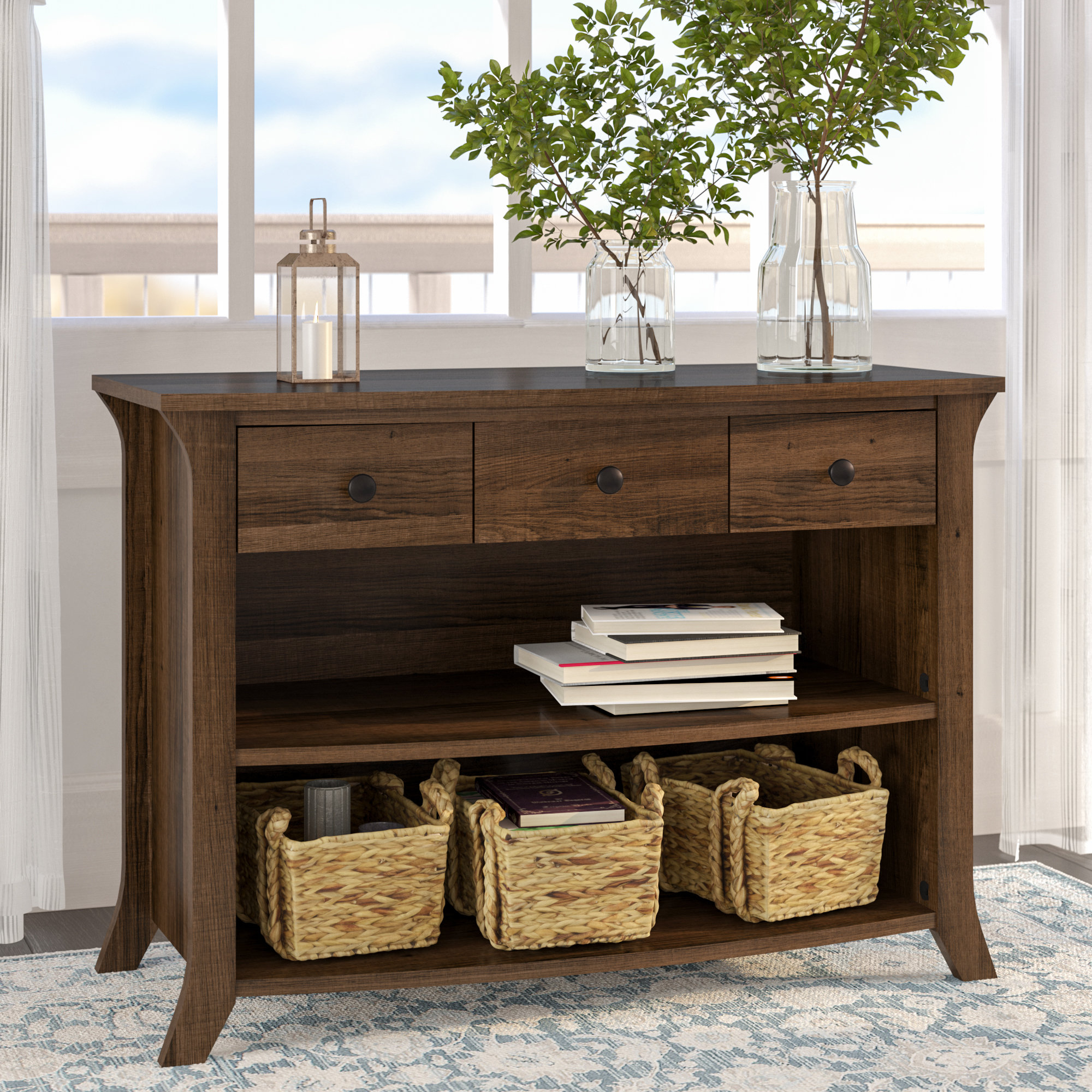 Drawers Console Tables You'll Love | Wayfair Inside Layered Wood Small Square Console Tables (View 12 of 30)