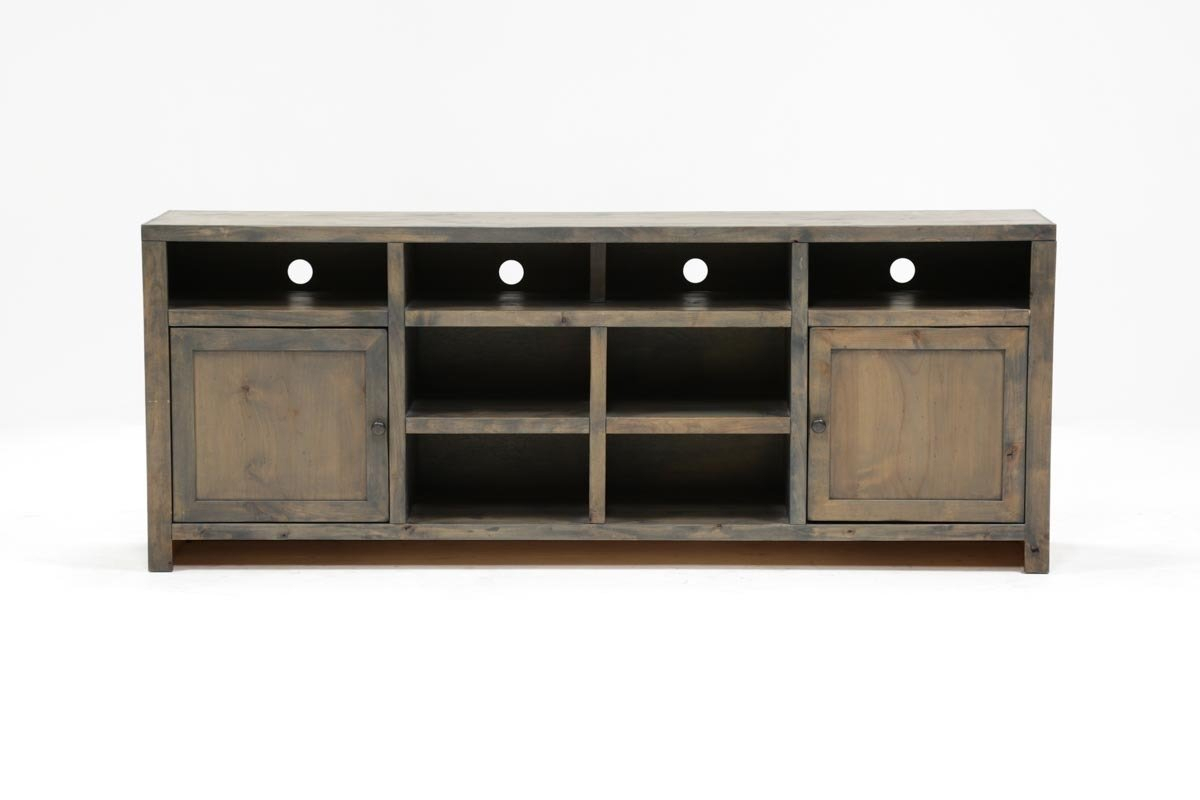 Ducar 84 Inch Tv Stand | Living Spaces Regarding Raven Grey Tv Stands (Photo 10 of 30)