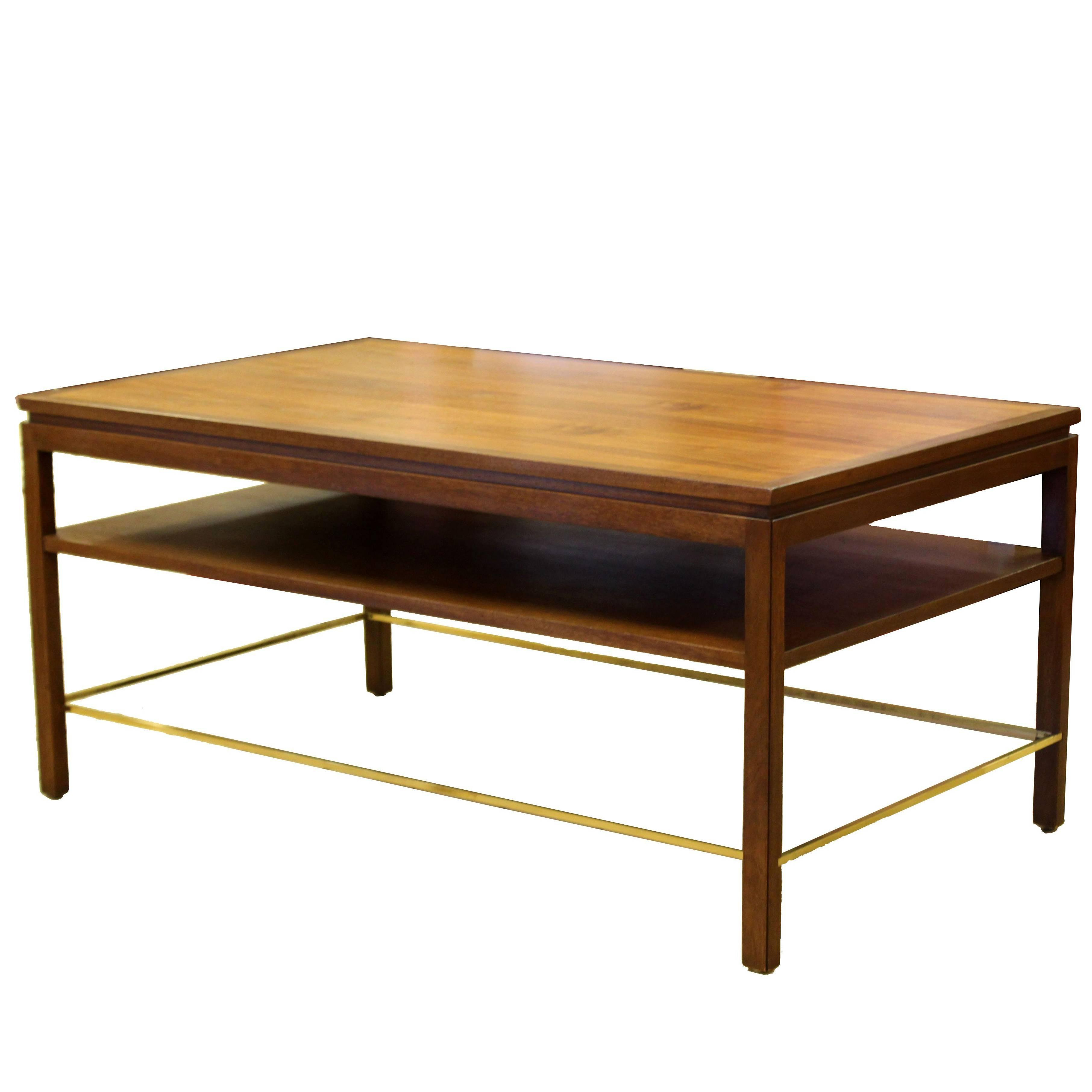 Dunbar Furniture Console Tables - 26 For Sale At 1Stdibs intended for Oak & Brass Stacking Media Console Tables (Image 6 of 30)