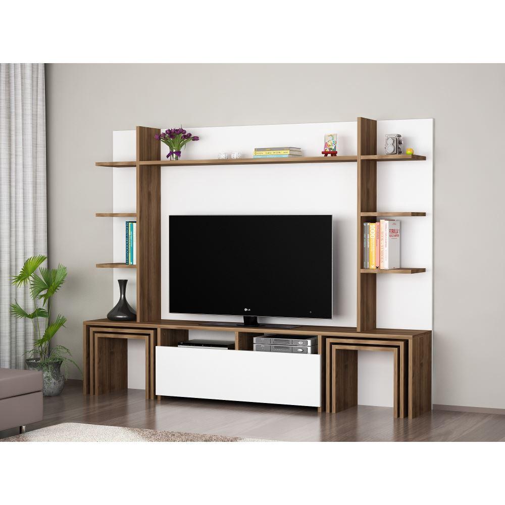Duvar Üniteli Tv Sehpa Modelleri Tekzen'de! Pertaining To Ducar 84 Inch Tv Stands (View 22 of 30)