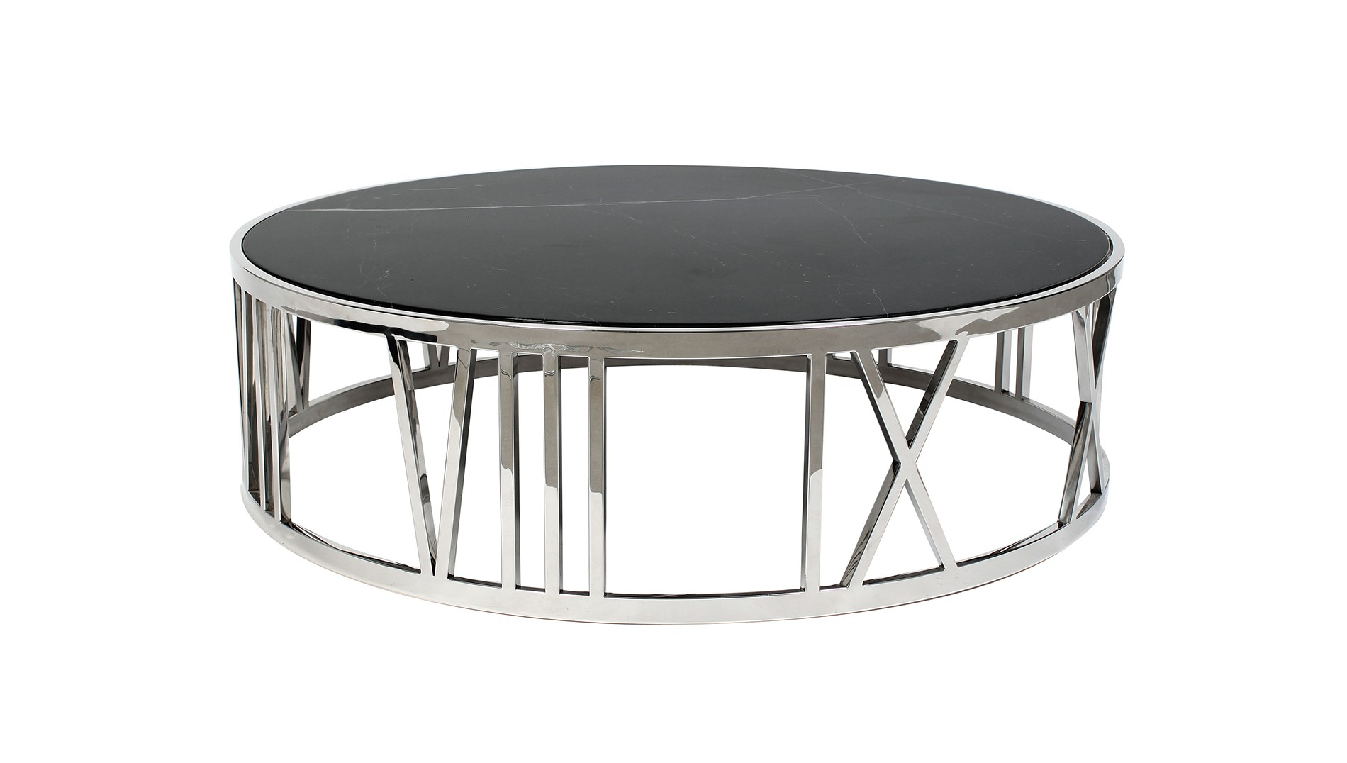 Eichholtz, Roman Numerals Coffee Table   Luxdeco In Roman Metal Top Console Tables (Photo 22 of 30)