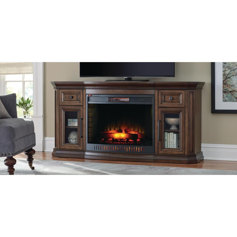 Electric Fireplace Tv Stand … | Electric Fireplace Tv Console | Elect… Within Sinclair Grey 68 Inch Tv Stands (View 11 of 30)