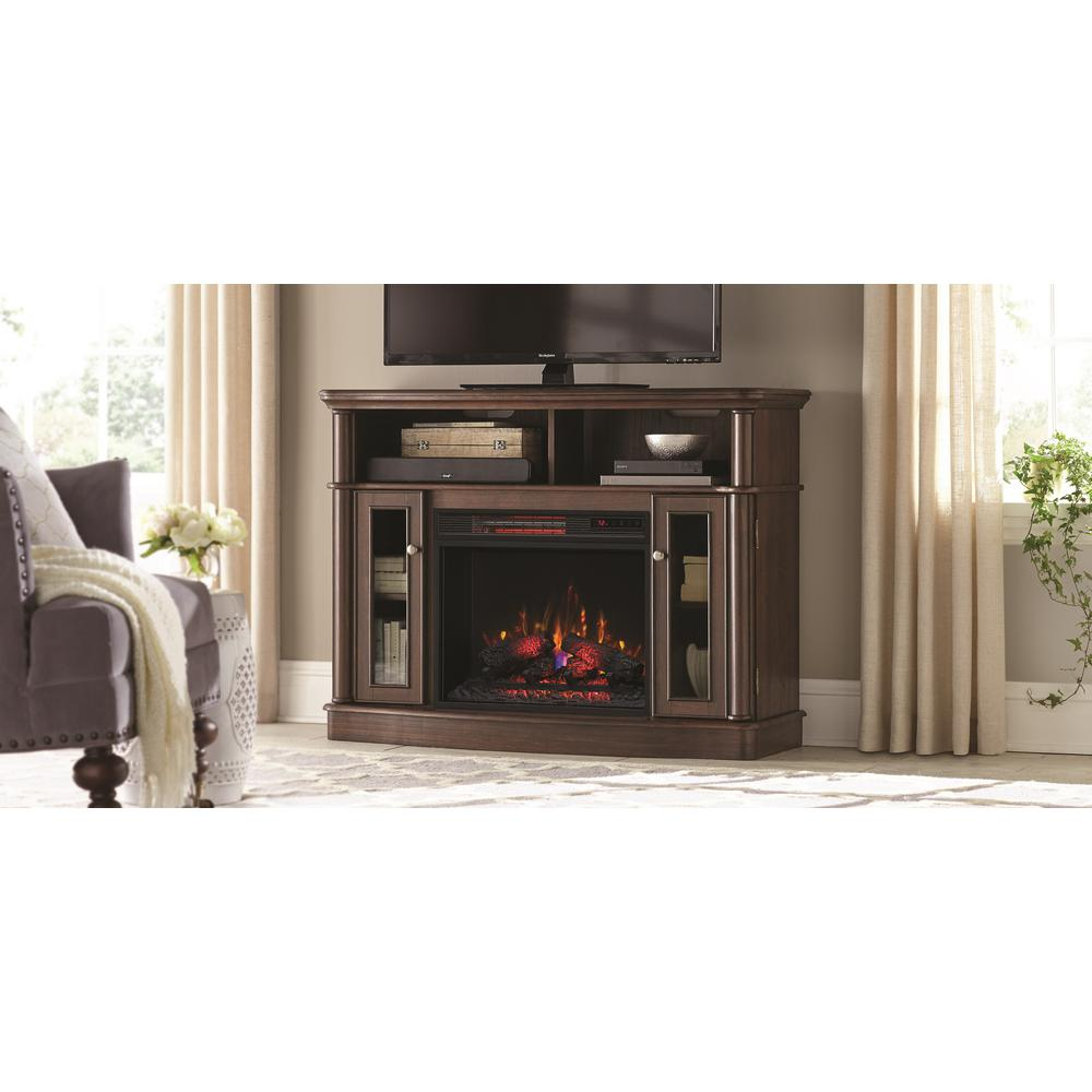 Electric Fireplaces   Fireplaces   The Home Depot Pertaining To Dixon Black 65 Inch Highboy Tv Stands (Photo 1 of 30)