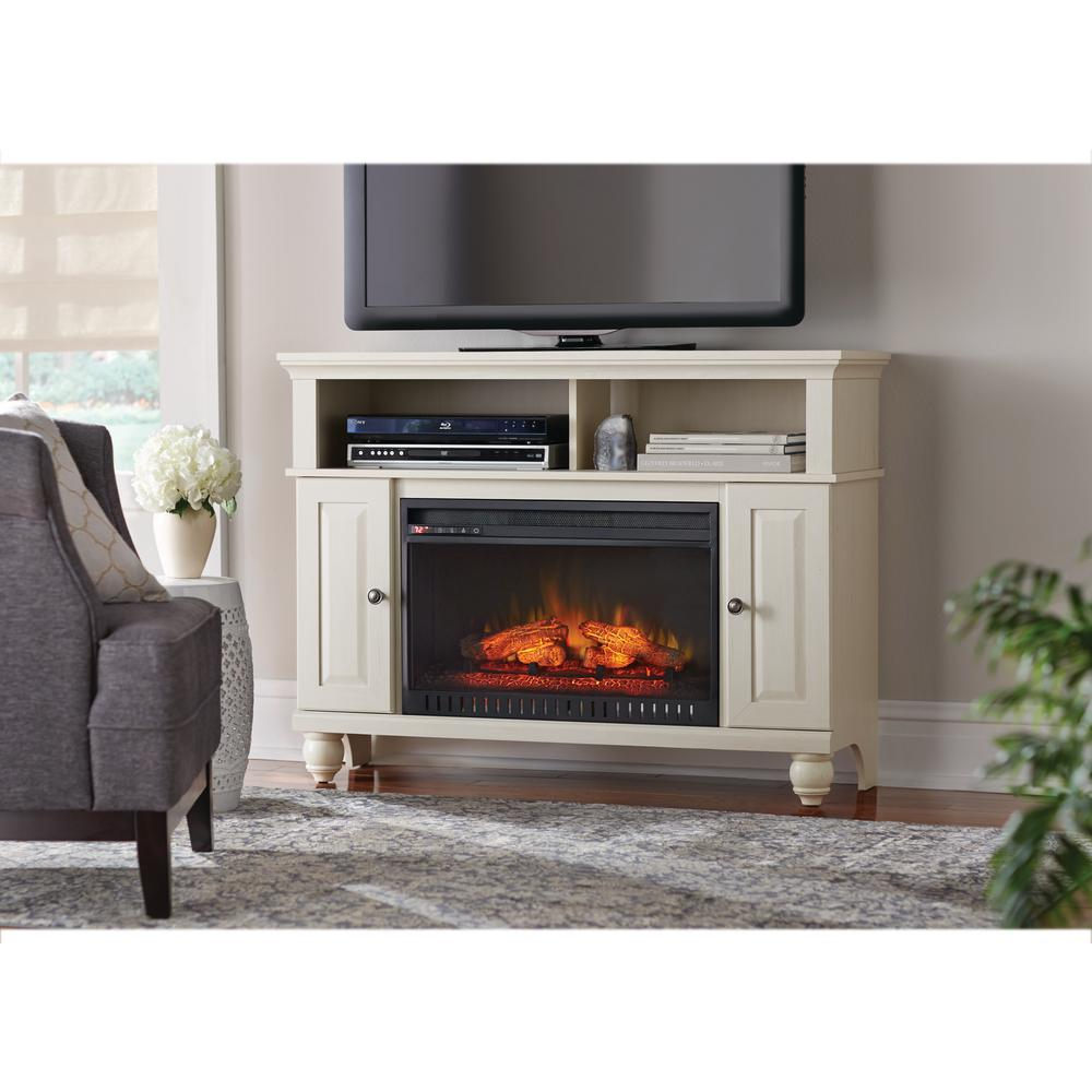 Electric Fireplaces   Fireplaces   The Home Depot Throughout Dixon Black 65 Inch Highboy Tv Stands (Photo 8 of 30)