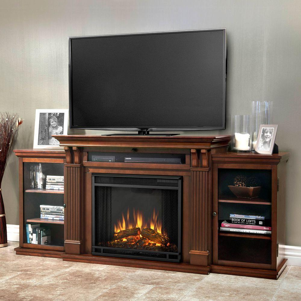 Electric Fireplaces   Fireplaces   The Home Depot Throughout Dixon Black 65 Inch Highboy Tv Stands (Photo 5 of 30)