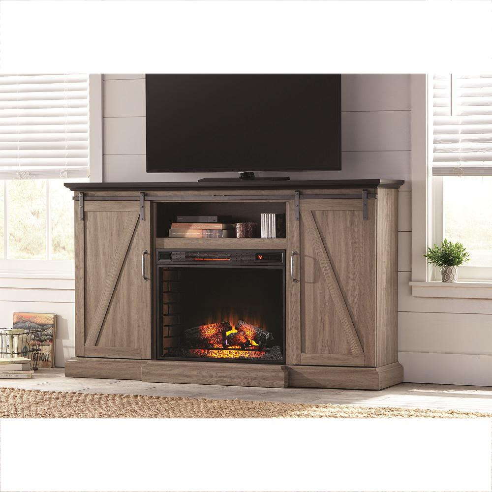 Electric Fireplaces   Fireplaces   The Home Depot Within Dixon Black 65 Inch Highboy Tv Stands (Photo 7 of 30)