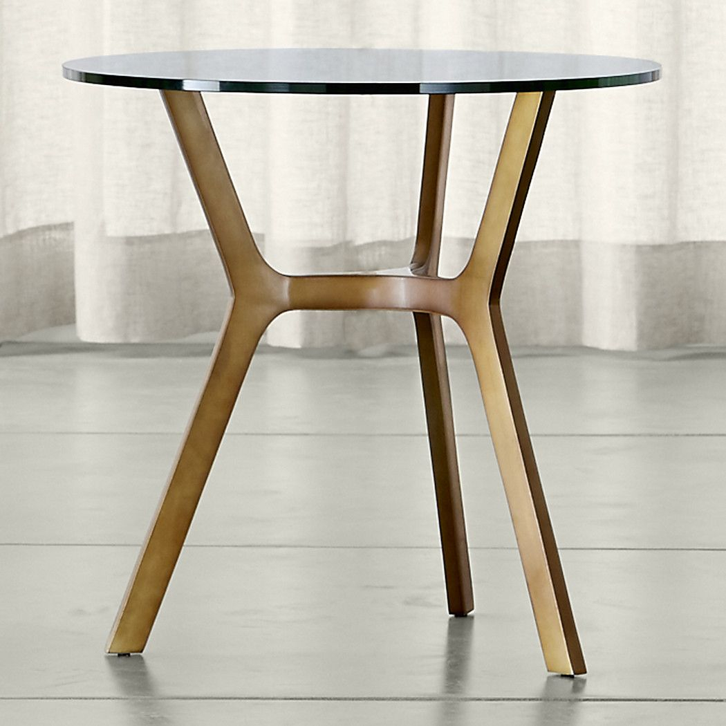 Elke Glass End Table With Brass Base | Family Room #6 | Table, Glass Inside Elke Marble Console Tables With Polished Aluminum Base (View 2 of 30)