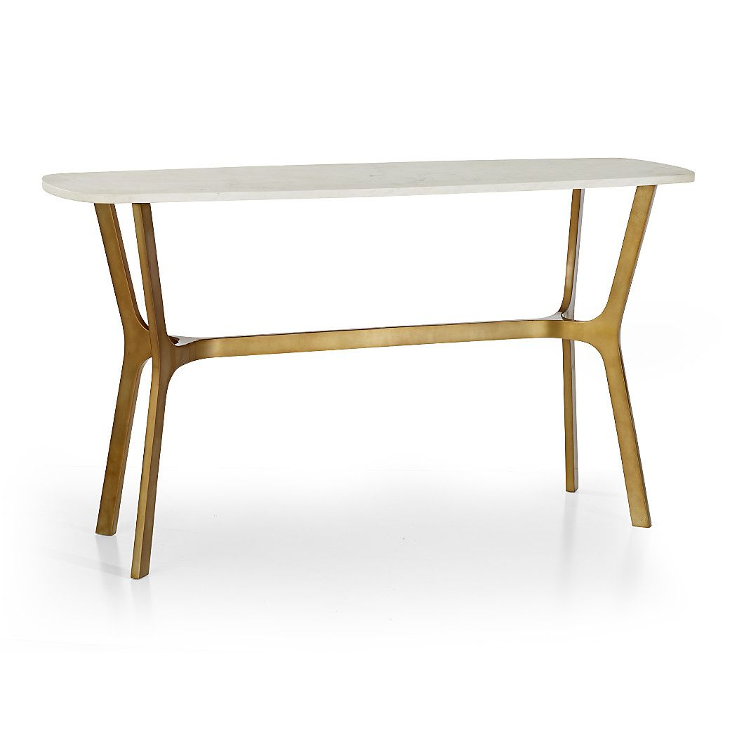 Elke Marble Console Table With Brass Base | Ideas For The House Throughout Elke Marble Console Tables With Brass Base (View 3 of 30)