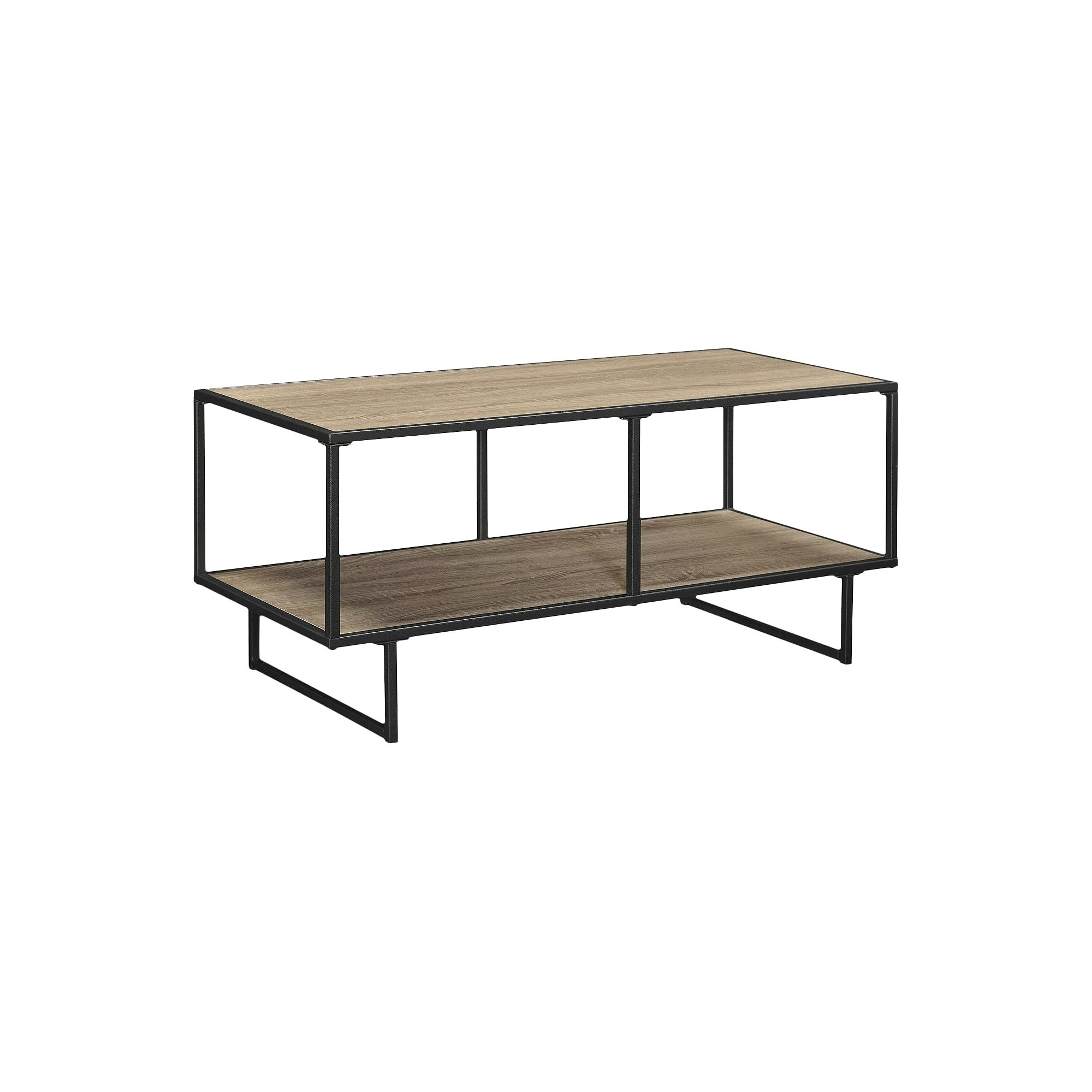 Emmett 42 Tv Stand/coffee Table With Metal Frame   Sonoma Oak Intended For Gunmetal Media Console Tables (Photo 3 of 30)