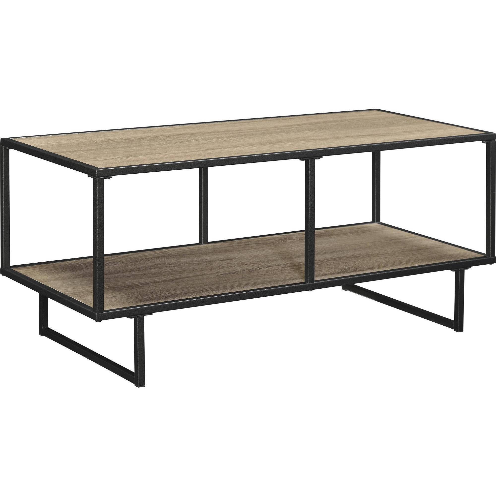 Emmett Sonoma Tv Stand/coffee Frame Metal With Table For Tvs Up To For Gunmetal Media Console Tables (Photo 30 of 30)