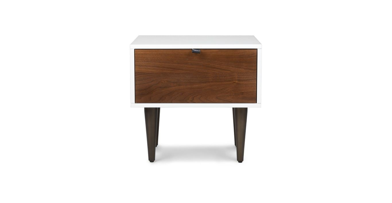 Envelo 1 Drawer Nightstand In 2018 | Our Home <3 | Pinterest Throughout Parsons Travertine Top &amp; Elm Base 48x16 Console Tables (View 6 of 30)