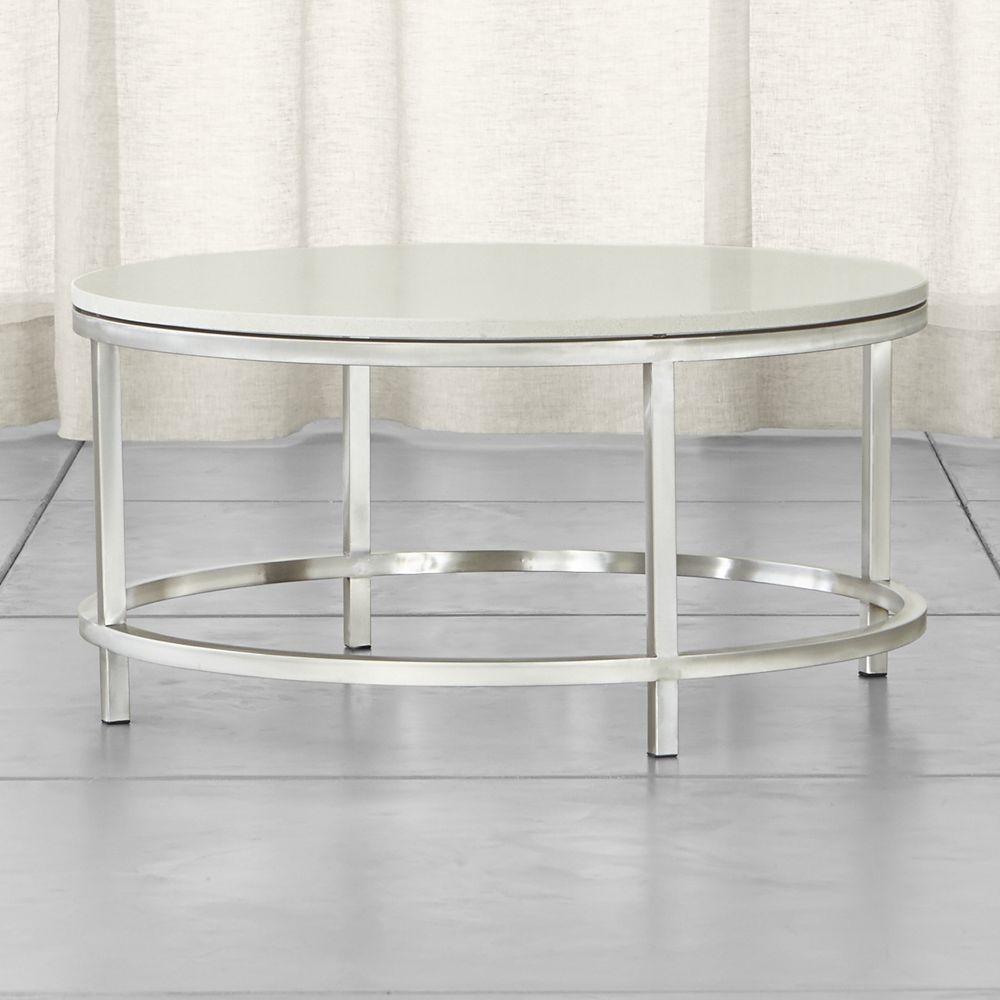Era Limestone Round Coffee Table | Products | Pinterest | Crates Throughout Era Limestone Console Tables (View 4 of 30)