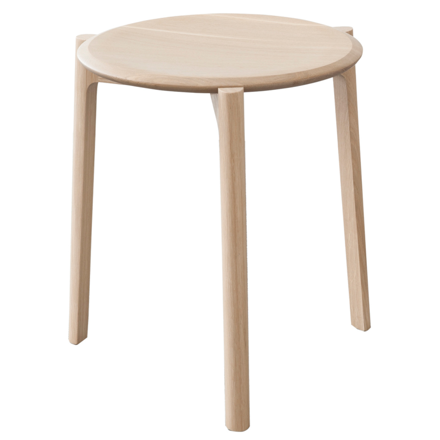 Ercol Svelto Round Stacking Stool Dead Matt Oak | Heal's For Oak & Brass Stacking Media Console Tables (Photo 19 of 30)