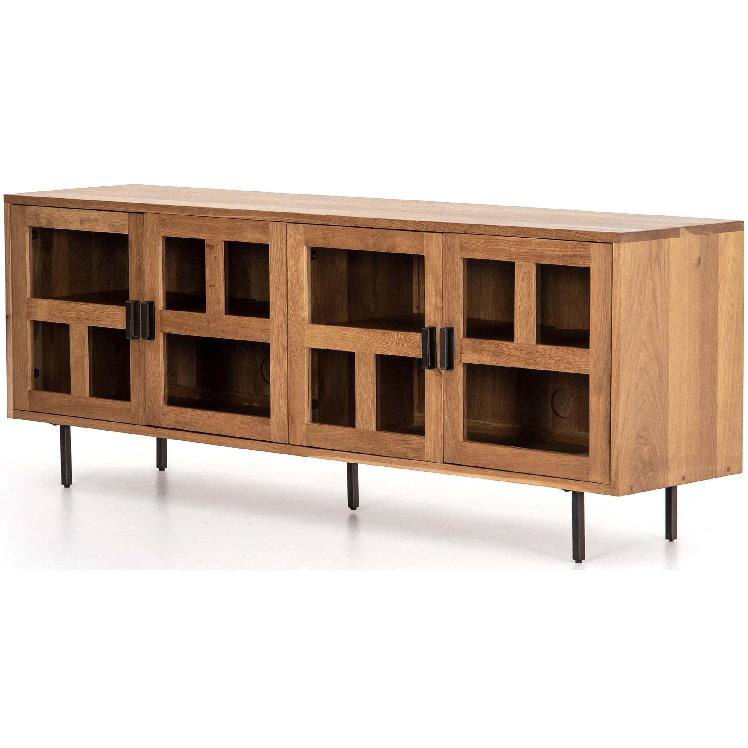 Ettore Media Console   Media   Storage   Furniture In Gunmetal Media Console Tables (Photo 10 of 30)