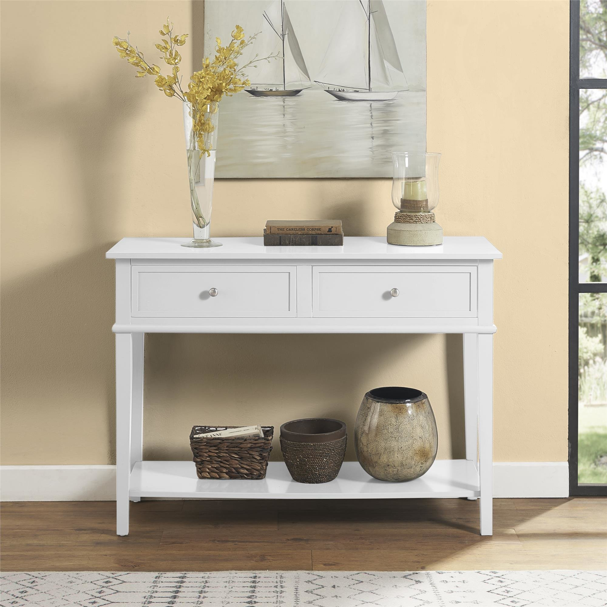 Extra Long Console Table | Wayfair Pertaining To Silviano 60 Inch Console Tables (Photo 16 of 30)