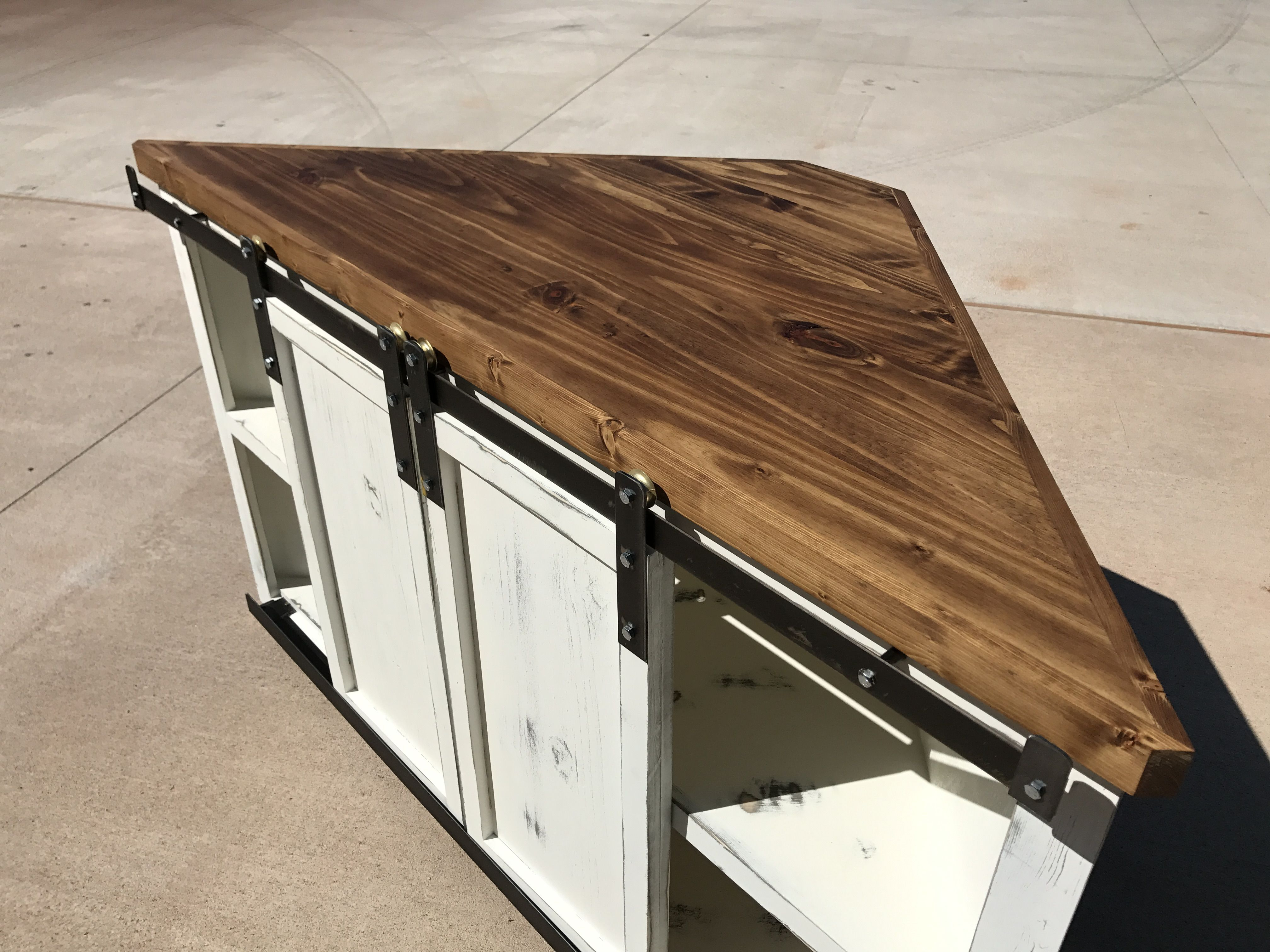 Farmhouse Style Corner Tv Stand | Coffee And End Tables In 2019 within Walters Media Console Tables (Image 9 of 30)