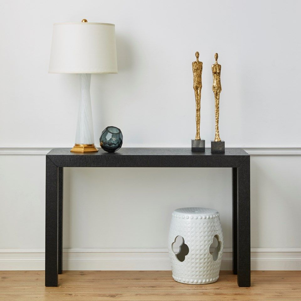 Farnese Lamp (lamp Only), Clear & Gold Leaf – Bungalow 5 | Trents Within Parsons White Marble Top & Dark Steel Base 48x16 Console Tables (View 23 of 30)