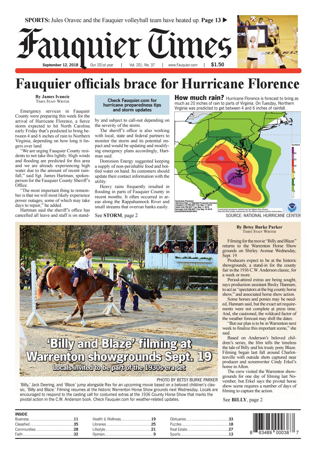Fauquier Times September 12, 2018Fauquier Times - Issuu within Maddy 50 Inch Tv Stands (Image 5 of 30)