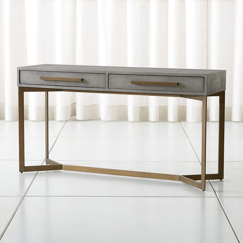 Faux Shagreen Console Table | Products | Console Table, Console, Table Pertaining To Remi Console Tables (View 7 of 30)