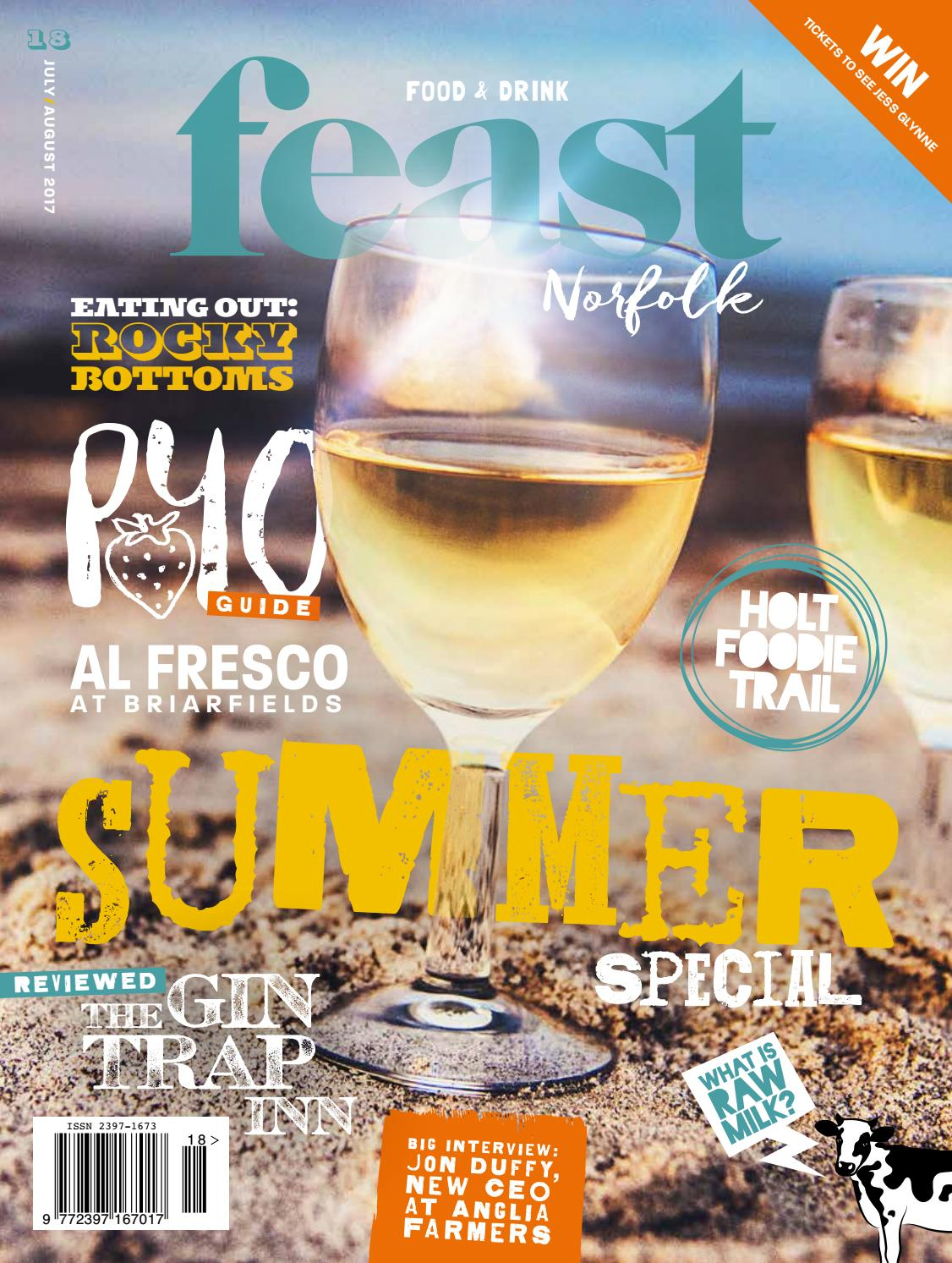 Feast Norfolk Magazine July/august 17 Issue 18feast Norfolk Within Noah Aged Whiskey 66 Inch Tv Stands (View 9 of 30)