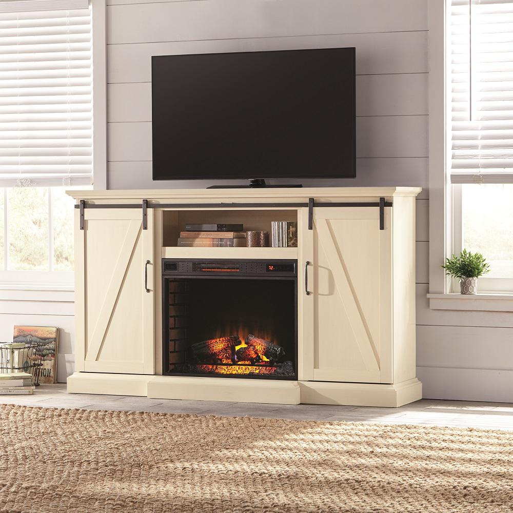 Fireplace Tv Stands – Electric Fireplaces – The Home Depot Regarding Canyon 64 Inch Tv Stands (View 19 of 30)