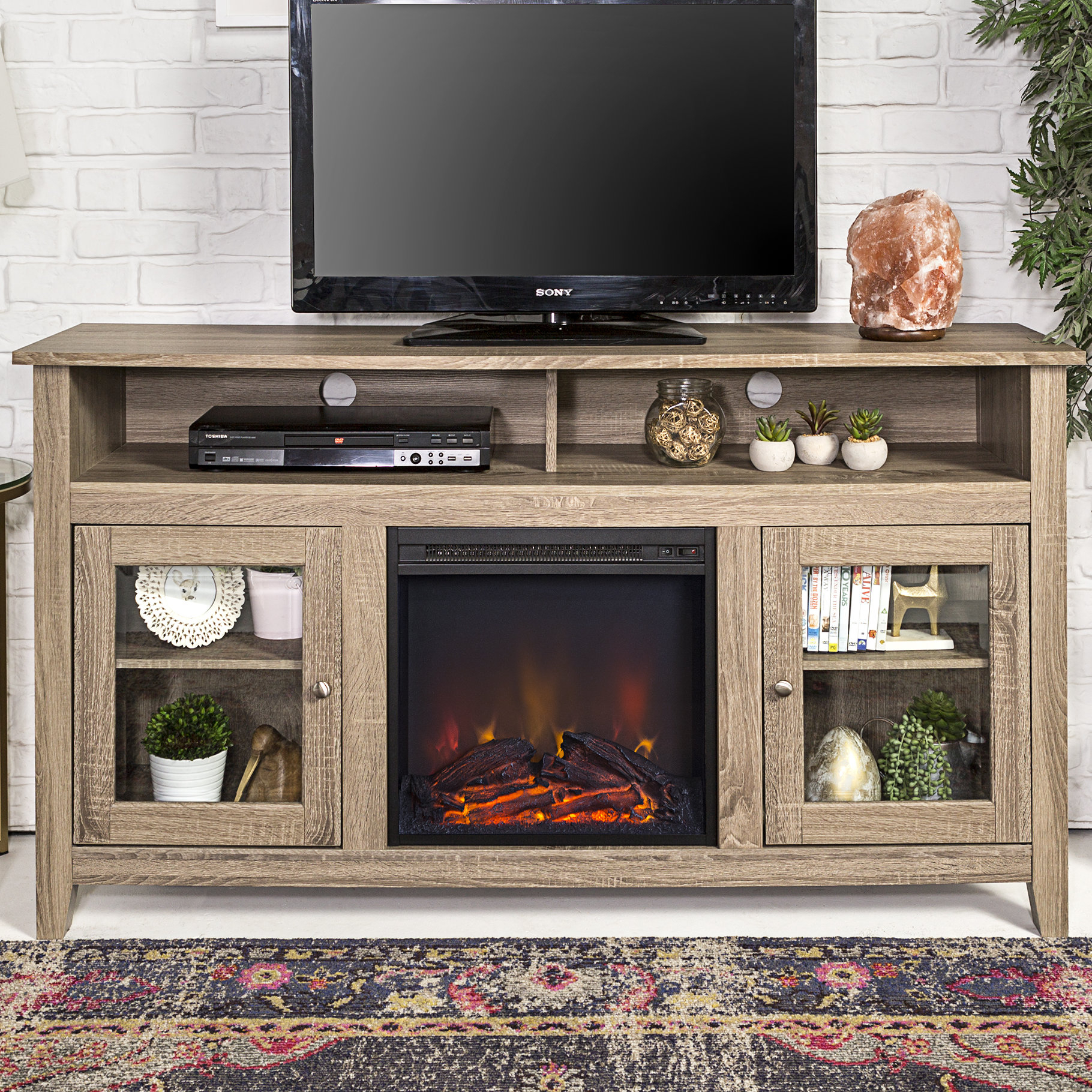 Fireplace Tv Stands & Entertainment Centers You'll Love | Wayfair.ca intended for Sinclair Blue 74 Inch Tv Stands (Image 10 of 30)