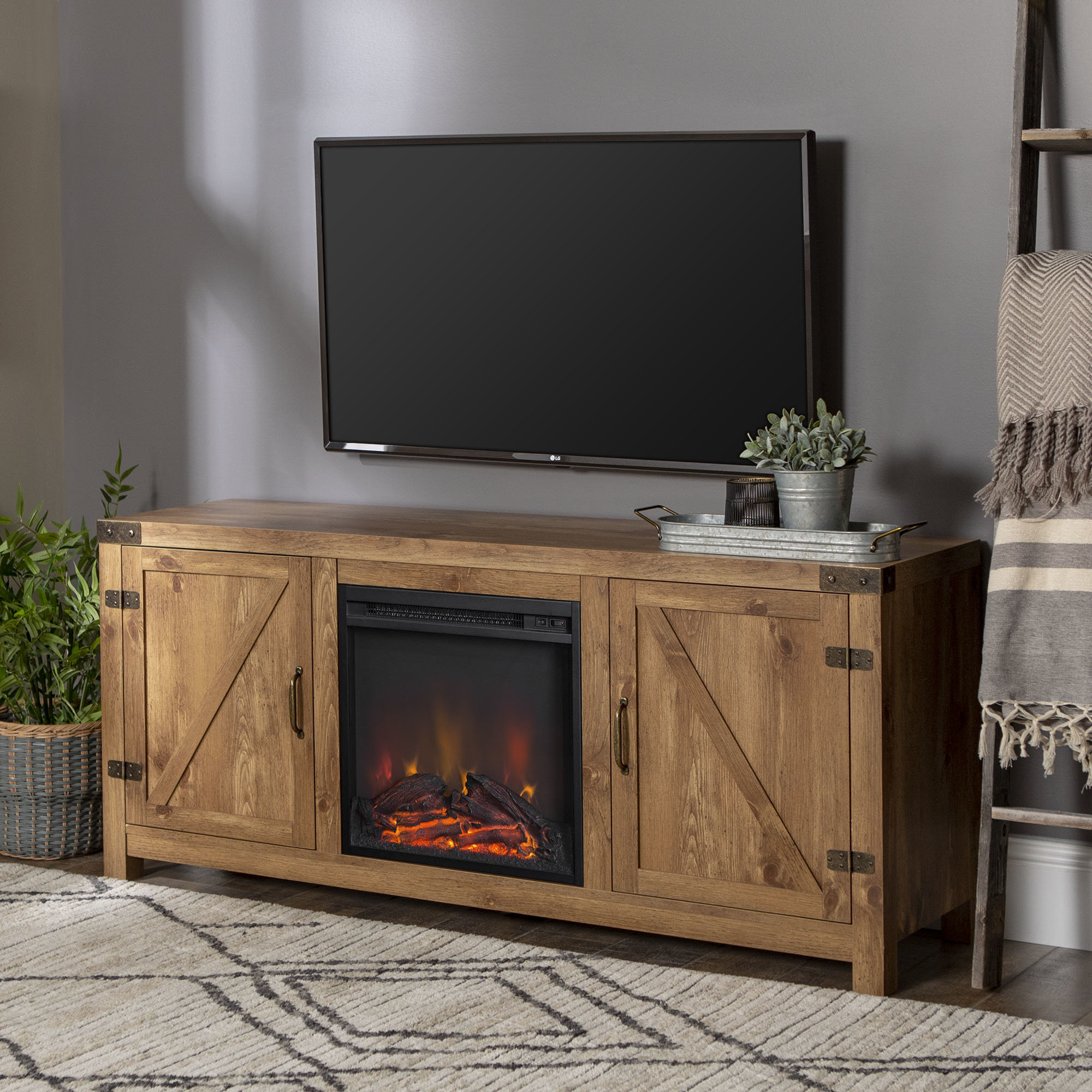 Fireplace Tv Stands & Entertainment Centers You'll Love | Wayfair.ca regarding Sinclair Grey 54 Inch Tv Stands (Image 7 of 30)