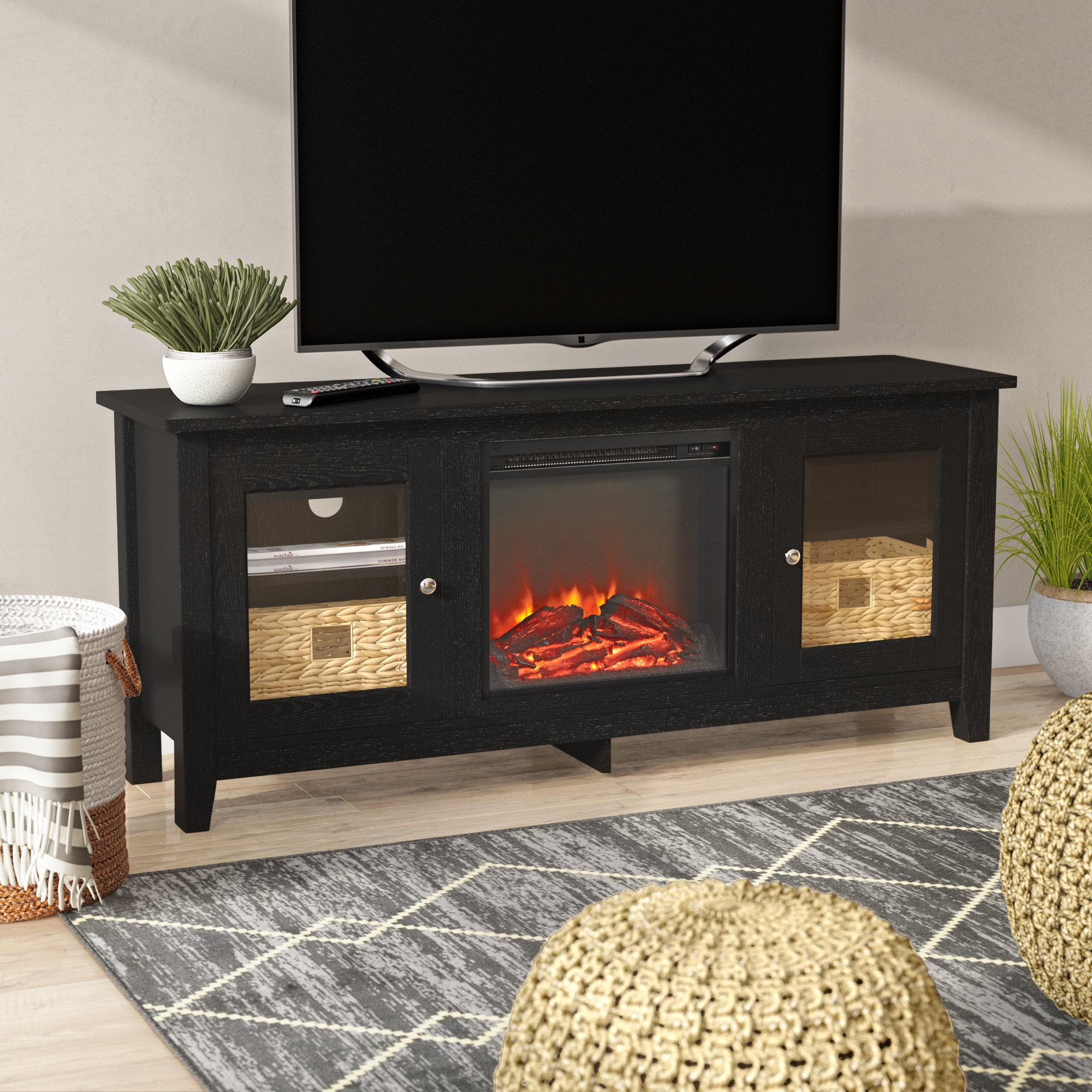 Fireplace Tv Stands & Entertainment Centers You'll Love | Wayfair.ca with regard to Sinclair Grey 54 Inch Tv Stands (Image 9 of 30)