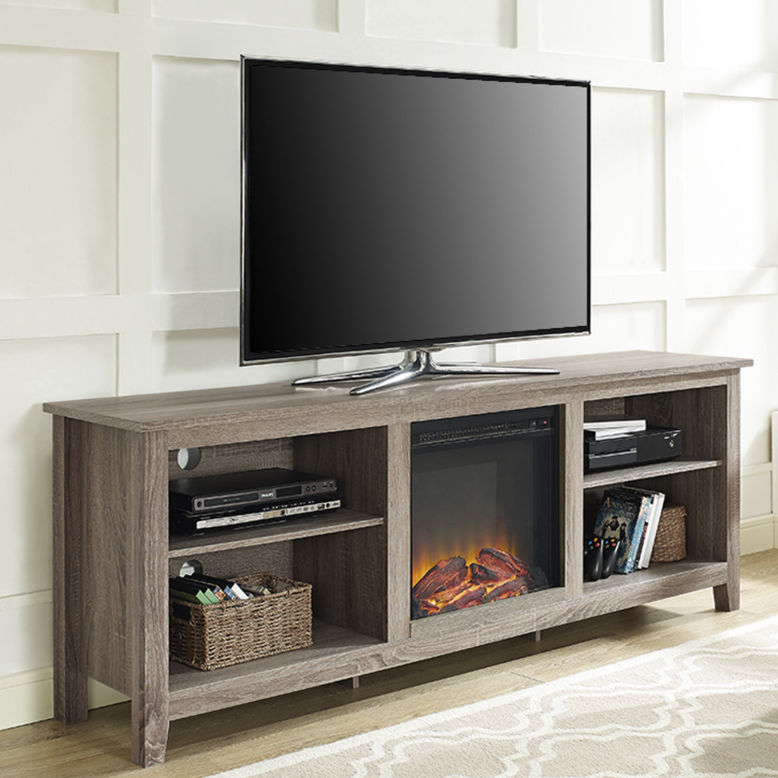 Fireplace Tv Stands & Entertainment Centers You'll Love | Wayfair.ca with Sinclair Blue 74 Inch Tv Stands (Image 12 of 30)