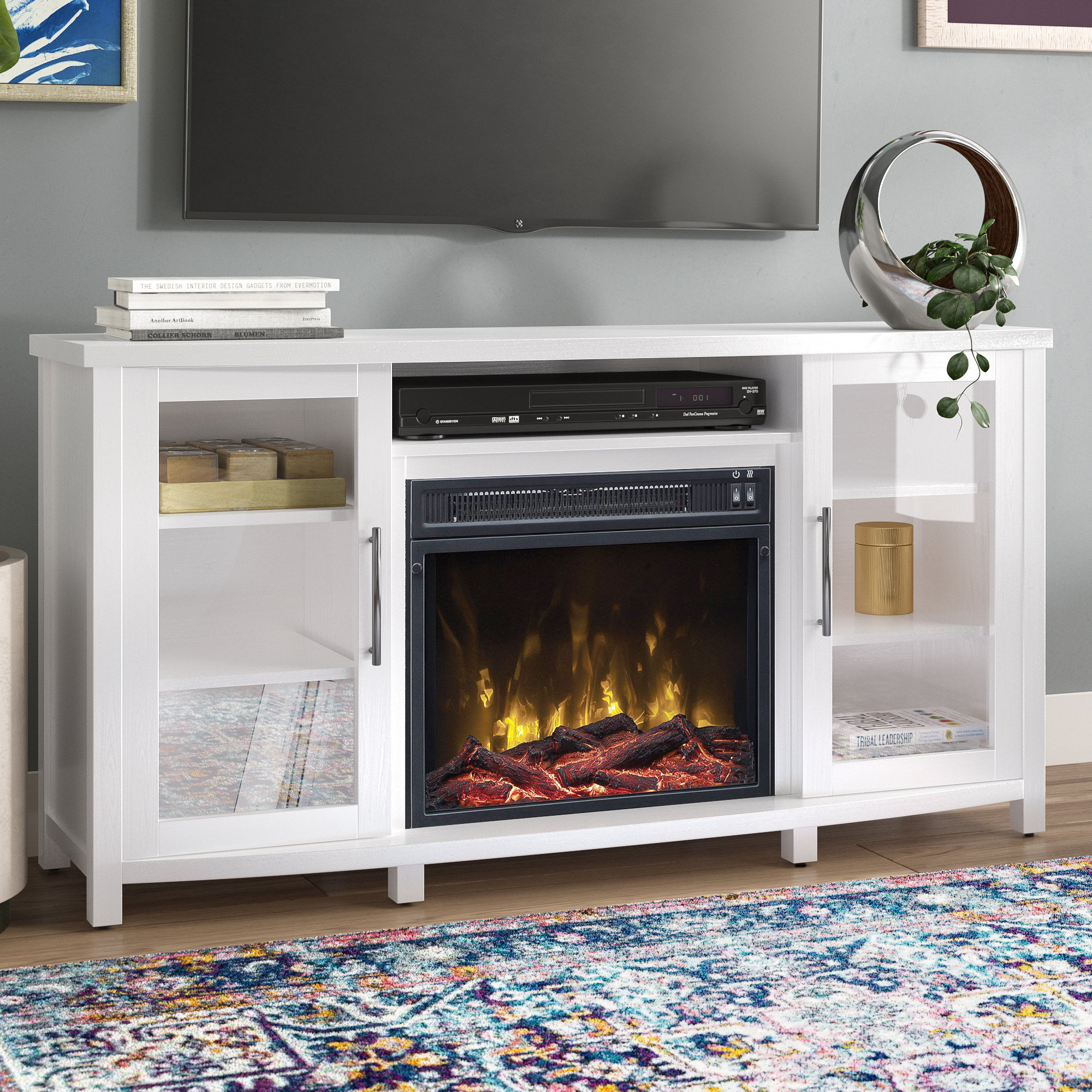 Fireplace Tv Stands & Entertainment Centers You'll Love | Wayfair.ca within Sinclair Blue 74 Inch Tv Stands (Image 13 of 30)