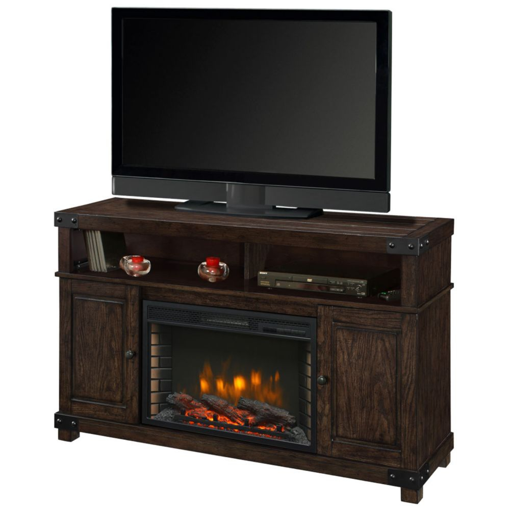 Fireplace Tv Stands | The Home Depot Canada Within Sinclair White 64 Inch Tv Stands (View 8 of 30)