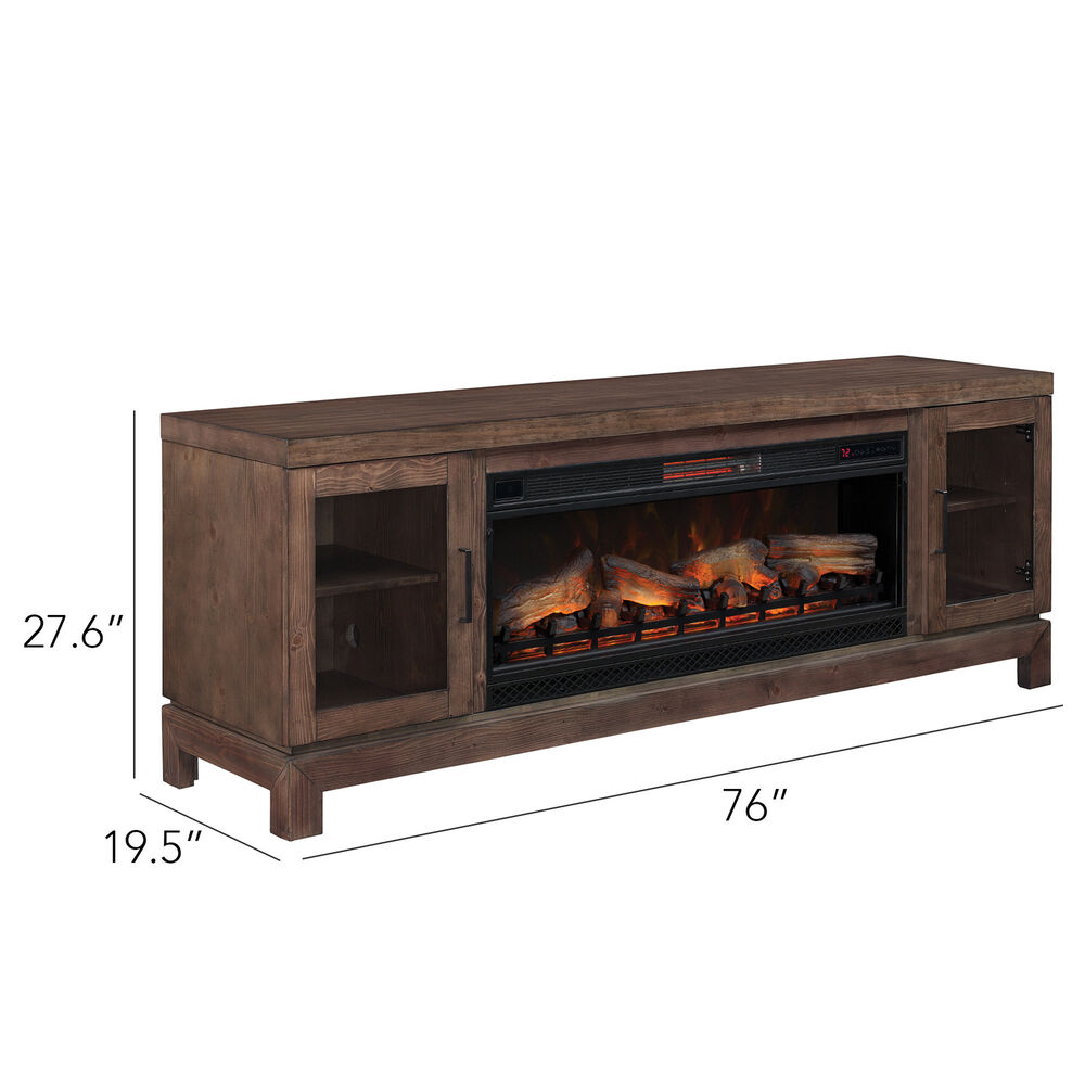 """Foundry Select Bales 76"""" Tv Stand With Fireplace 190687720381   Ebay Throughout Bale 82 Inch Tv Stands (View 8 of 30)"""