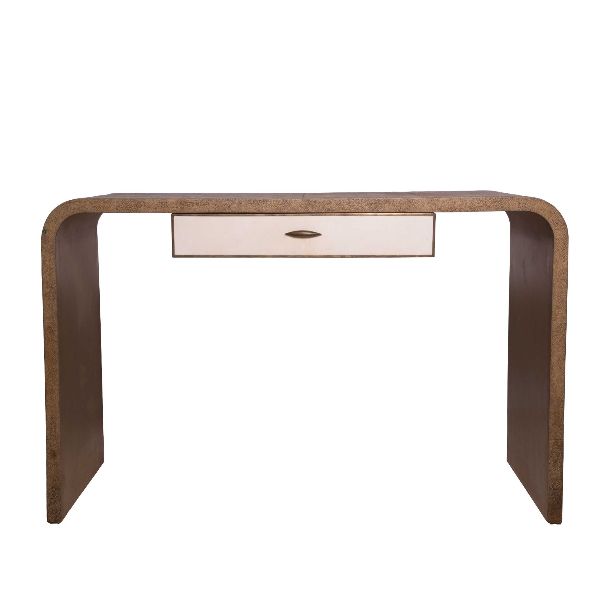 French Shagreen Console Table Throughout Grey Shagreen Media Console Tables (View 7 of 30)